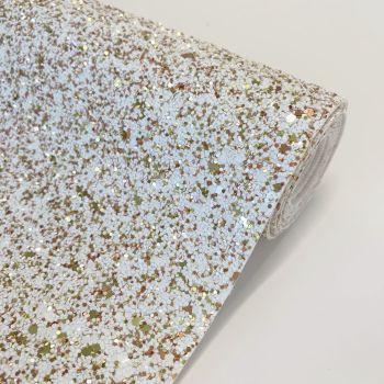 Premium Chunky Glitter Fabric - Fawn's Tail