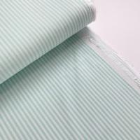 100% Yarn Dyed Cotton 3mm Stripe - Mint Green