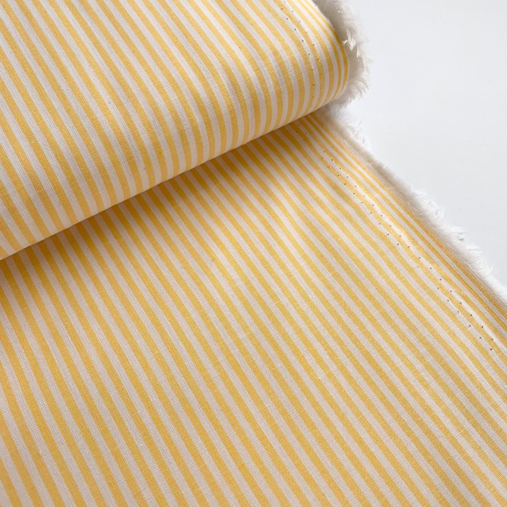 100% Yarn Dyed Cotton Stripe - Yellow