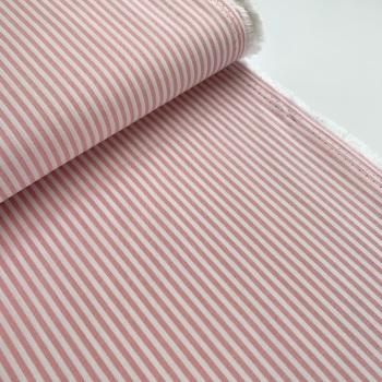 100% Yarn Dyed Cotton 3mm Stripe - Rose Pink