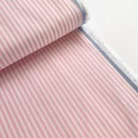 100% Yarn Dyed Cotton 3mm Stripe - Baby Pink