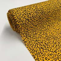 Rose and Hubble Fabrics - 100% Cotton Poplin Leopard Animal Print Gold