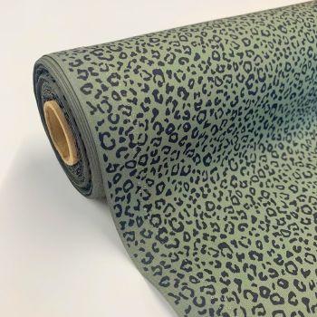 Rose and Hubble Fabrics - 100% Cotton Poplin Leopard Animal Print Khaki