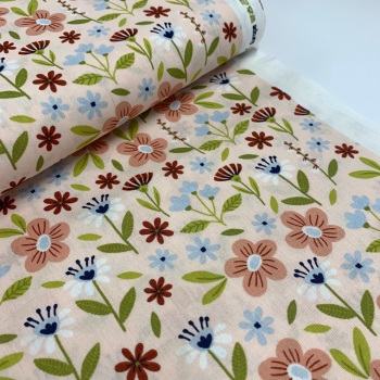 Poppy Europe Fabrics - Flowers - Light Salmon