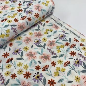 Poppy Europe Fabrics - Flowers - White
