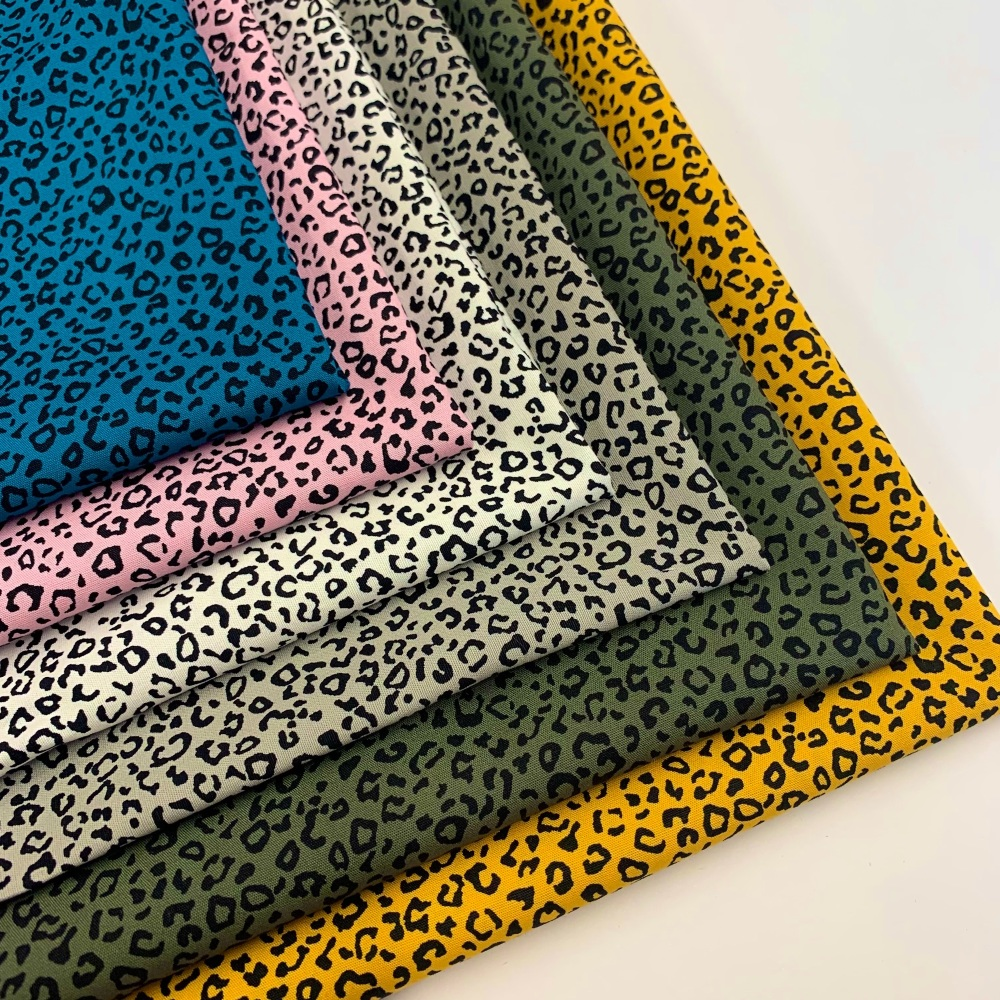 Rose and Hubble - Animal Leopard - Felt Backed Fabric