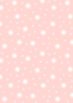 REMNANT 40CM X 110CM Lewis and Irene -  Fairy Nights - Starry Sky on Pale Pink - Glow in the Dark