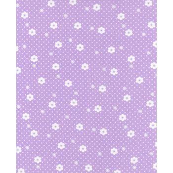 REMNANT 35CM X 110CM Lecien Flower Sugar Ross Kiss - Daisy Dot Pearl Violet