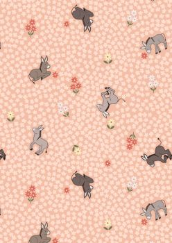 Lewis and Irene - Piggy Tales - Dinky Donkey on Peach
