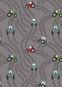 Lewis and Irene - Piggy Tales - Tractor Trailers on Muddy Grey