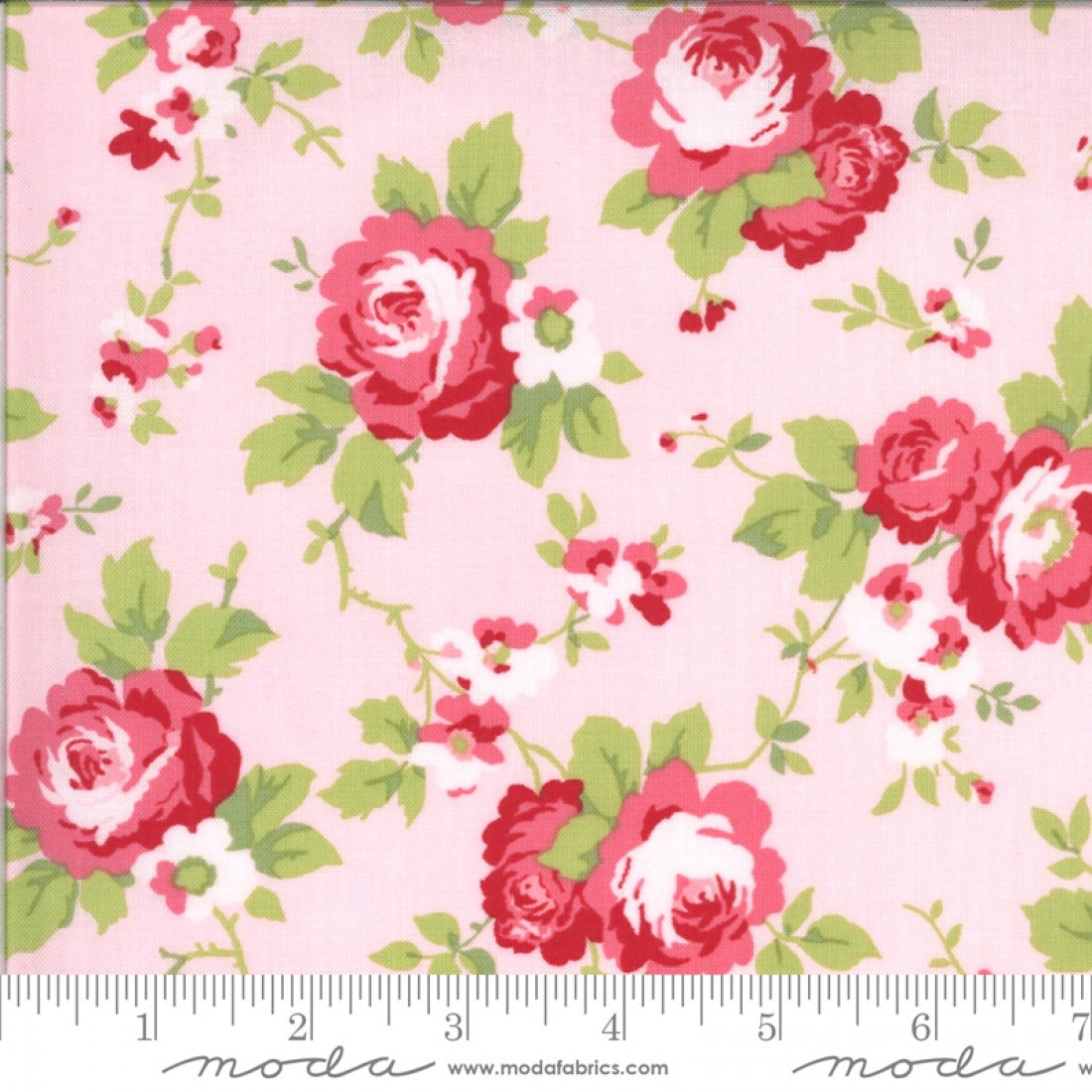 Moda Fabrics - Sophie by Brenda Riddle - Main Floral Blossom 100% Cotton