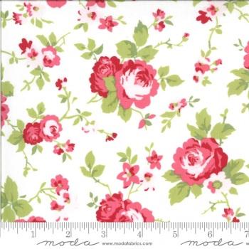 Moda Fabrics - Sophie by Brenda Riddle - Main Floral Linen 100% Cotton
