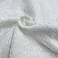 Daisy Embroidery Double Gauze- Ecru