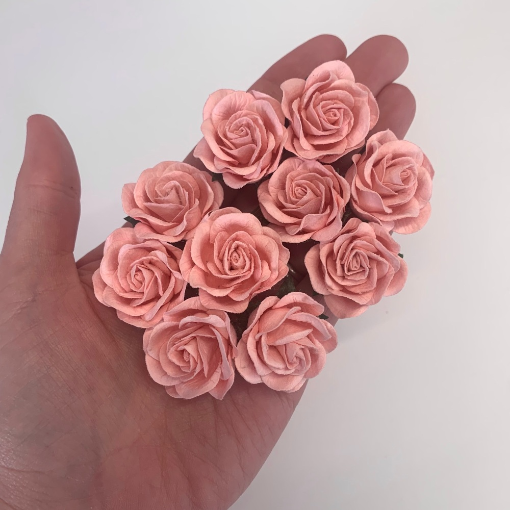 Mulberry Paper Flowers - Trellis Roses 35mm  - Pale Pink