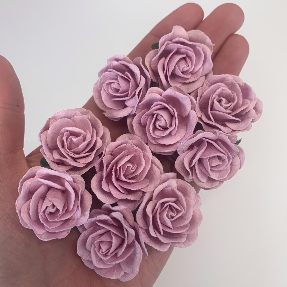 Mulberry Paper Flowers - Trellis Roses 35mm  - Lilac