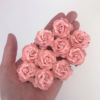 Mulberry Paper Flowers - Wild Roses 30mm  - Pale Pink