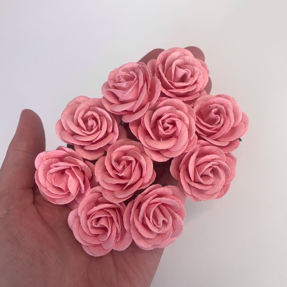 Mulberry Paper Flowers - Chelsea Roses 35mm  - Baby Pink
