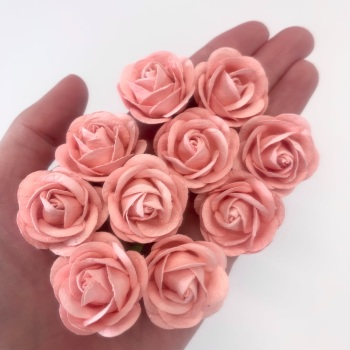 Mulberry Paper Flowers - Chelsea Roses 35mm  - Pale Pink