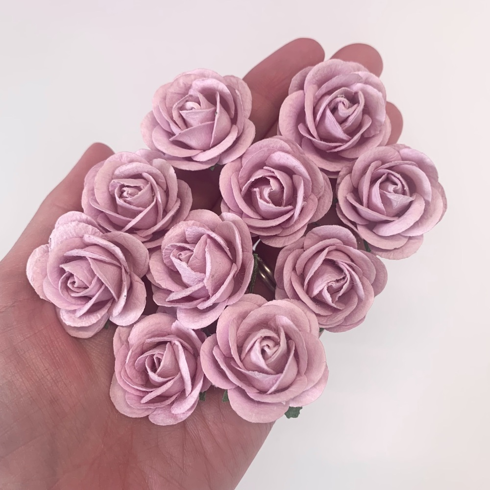 Mulberry Paper Flowers - Chelsea Roses 35mm  - Lilac