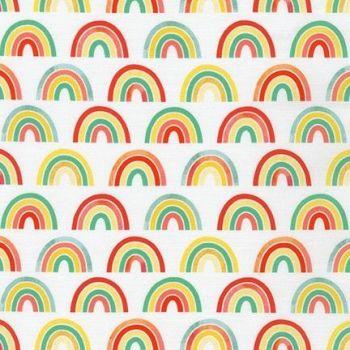 Robert Kaufman - Bright Days - Large Rainbows on White