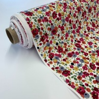 Rose and Hubble Fabrics - 100% Cotton Poplin Poppy Fields Red