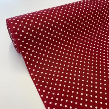 Rose and Hubble Fabrics - 100% Cotton Poplin  3mm Spots Polka Dot Wine