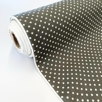 Rose and Hubble Fabrics - 100% Cotton Poplin  3mm Spots Polka Dot Grey