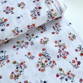 Poppy Europe - Scattered Flowers - Felt Backed Fabric