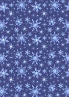 Lewis and Irene -  Keep Believing - Icy Blue snowflakes on Dark Blue