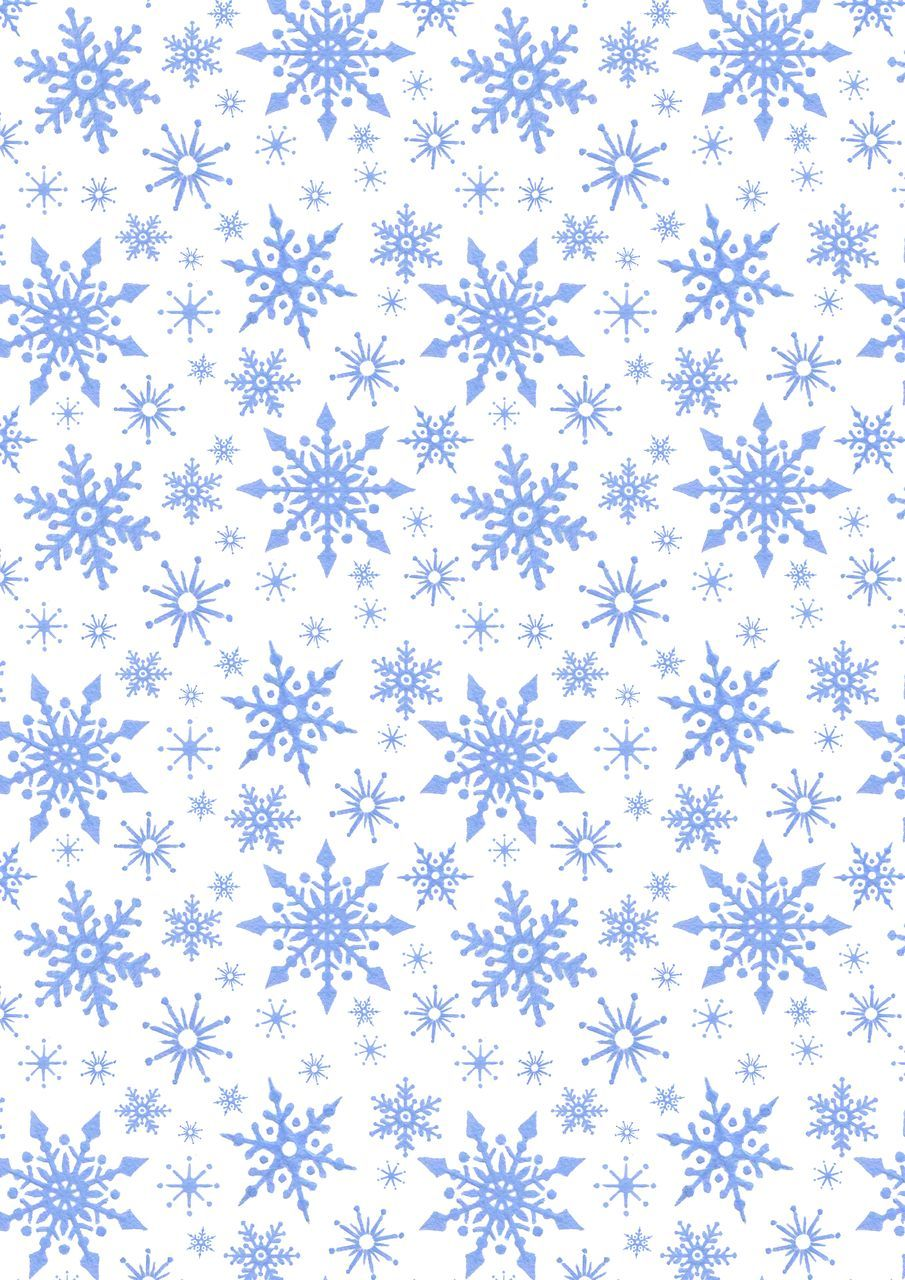 Lewis and Irene -  Keep Believing - Icy Blue snowflakes on White