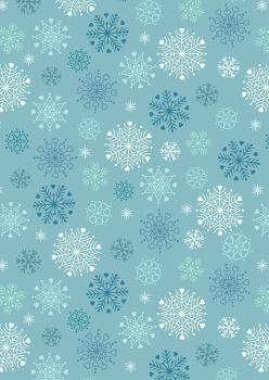 Lewis and Irene -  Hygge Glow - Snowflakes on Icy Blue - Glow in the Dark