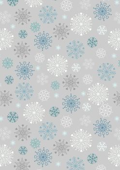 Lewis and Irene -  Hygge Glow - Snowflakes on Silver - Glow in the Dark