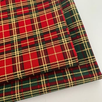 Rose and Hubble - Metallic Tartan - Felt Backed Fabric