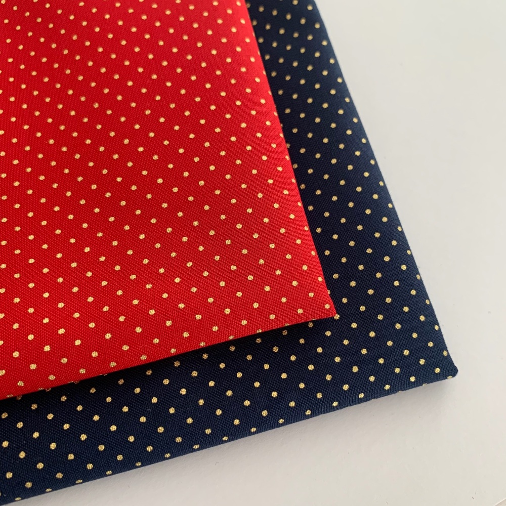 Rose and Hubble - Mini Metallic Dots  - Felt Backed Fabric