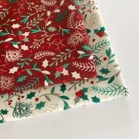 Rose and Hubble - Christmas Foliage  - Felt Backed Fabric