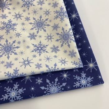 Lewis and Irene - Keep Believing  - Snowflakes- Felt Backed Fabric