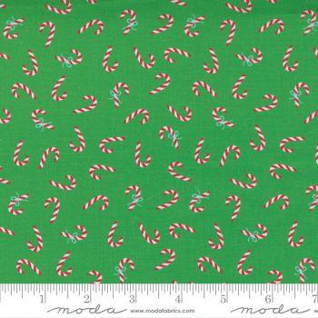 Moda Fabrics - Hello Essentials - Christmas Candy Cane Green