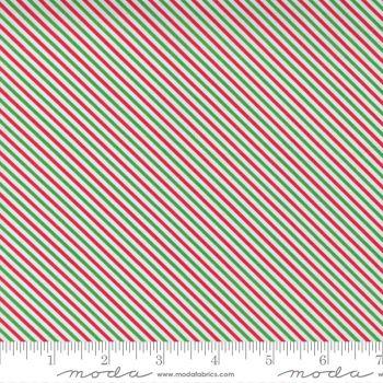 Moda Fabrics - Hello Essentials - Christmas Candy Stripe