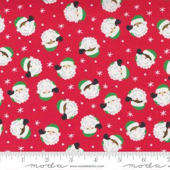 Moda Fabrics - Hello Essentials - Christmas Santa Red
