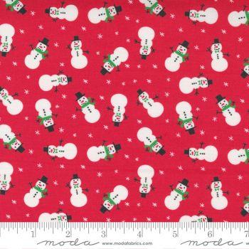 Moda Fabrics - Hello Essentials - Christmas Snowmen Red