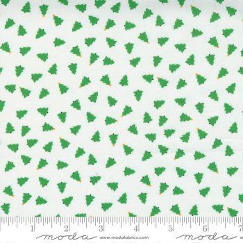 Moda Fabrics - Hello Essentials - Christmas Trees White