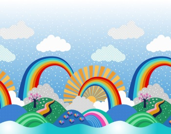 Lewis and Irene -  Over the Rainbow - Double edge border