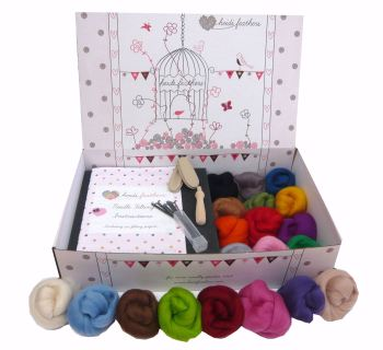Boxed Premium Needle Felting Kit - '20 Merino Colours'
