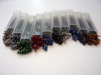 30 Mixed Needles Including Star, Reverse, Twisted and Triangular