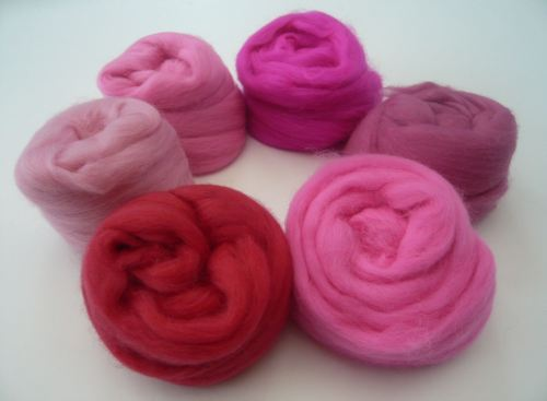 Pink Shades Packs - Merino Wool Tops