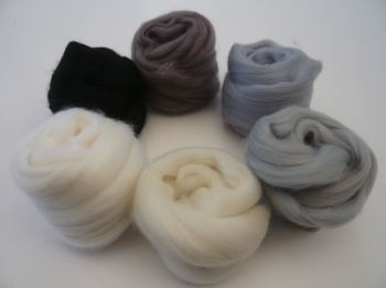 'Grand Greys' -  Merino Wool Tops Shades