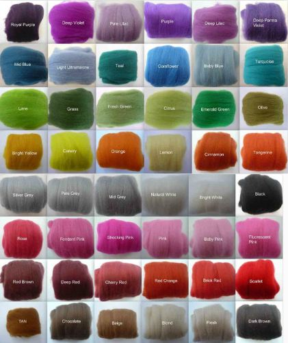 Six Wool Balls - Merino Wool Tops