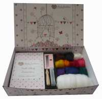 Boxed VEGAN Needle Felting Kit - With Bamboo Fibre