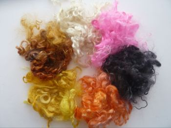 Mohair Locks 6 colour Mix