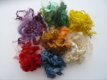 Dyed Curly Locks 7 Colour Mix